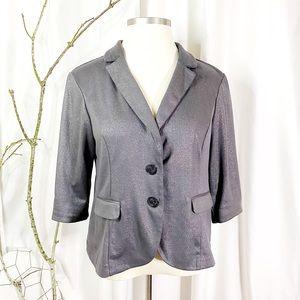 Torrid Glittery Grey Stretch Suit Coat size 2